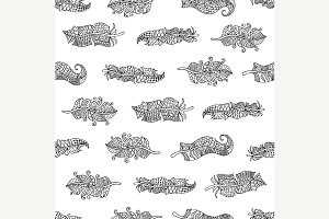 feathers Seamless Pattern.