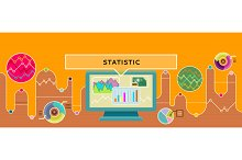 Statistic Concept Design Style Flat
