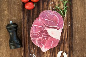 Raw fresh beef meat