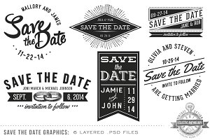 Vintage Save the Date Overlays