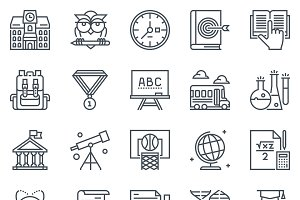 Education, school icon set