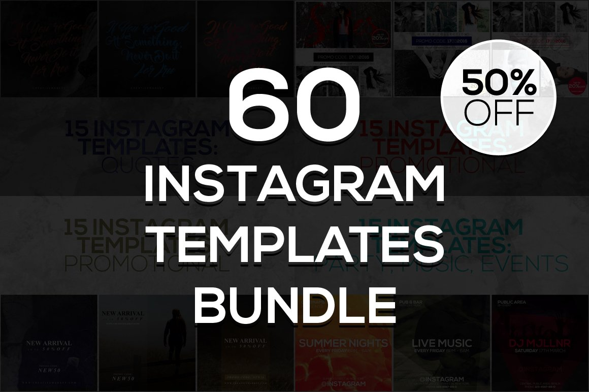 60 instagram templates bundle 2 instagram templates for Follow us on instagram template
