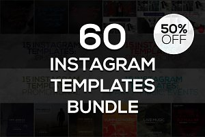 60 Instagram Templates Bundle #2