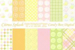 Fun Lemonade Digital Papers