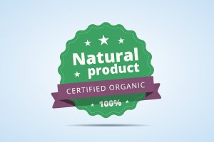 Natural product badge