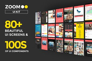 Zoom UI Kit (iPhone 5S, 6S & 6S +)