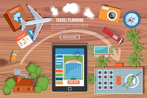 Colorful Travel Planning Banner