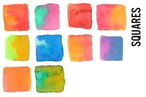 Watercolor Squares Clip Art