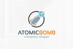 Atomic Bomb Logo Template
