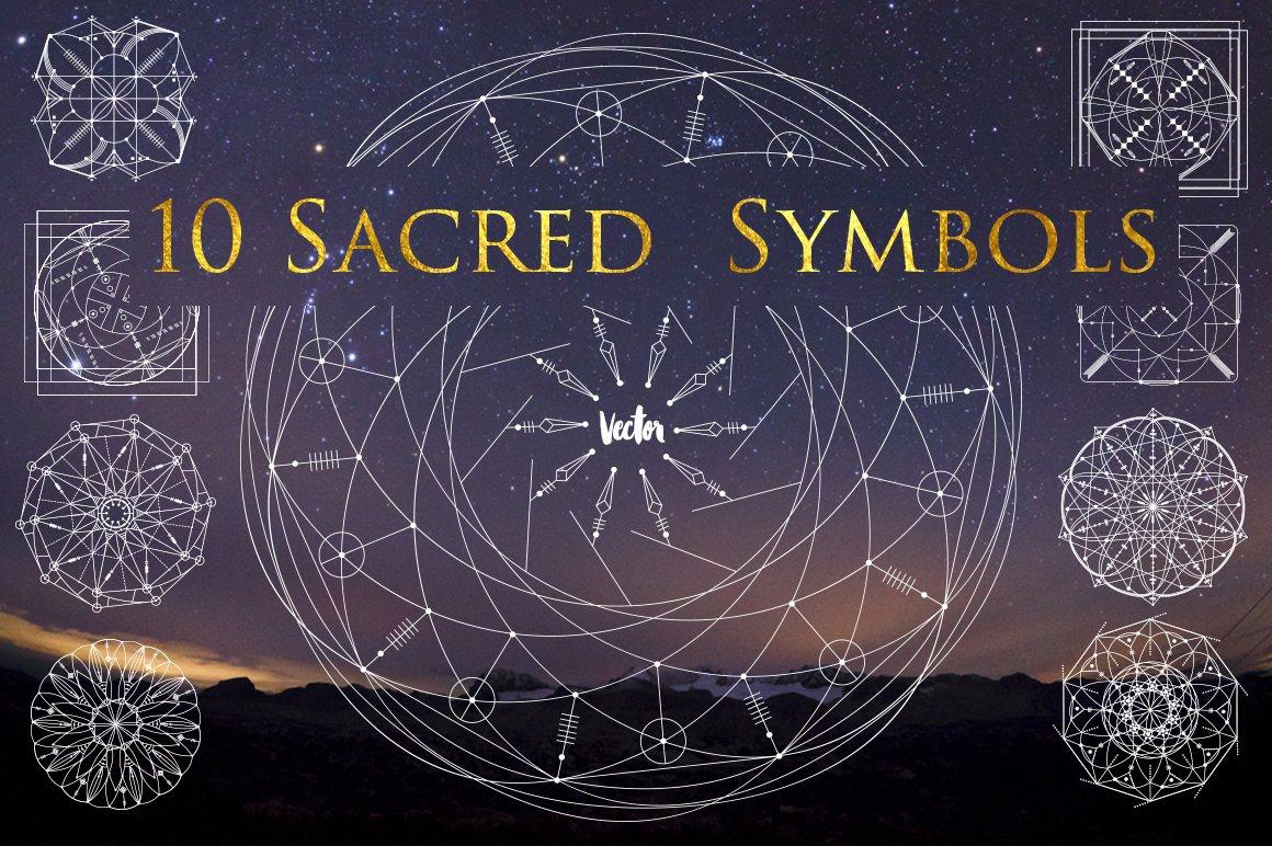 Sacred ancient symbols image collections symbol and sign ideas 10 sacred symbols illustrations creative market buycottarizona biocorpaavc