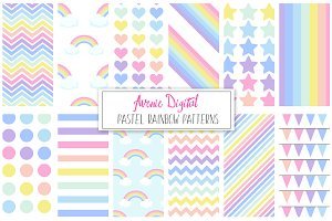 Pastel Rainbow Pattern + Paper