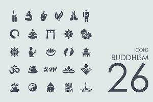 26 Buddhism icons + Bonus