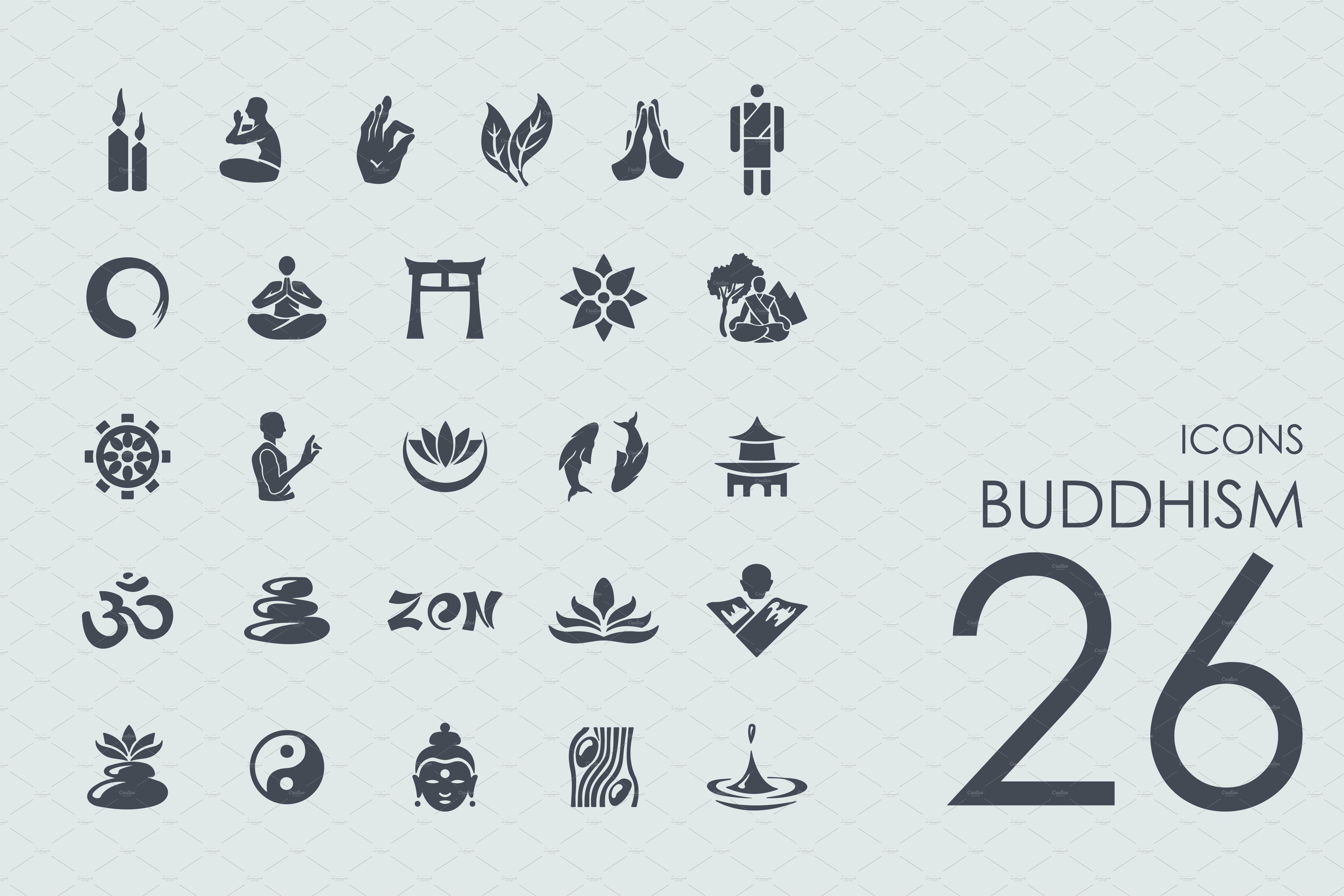 Zeichen Für Buddhismus