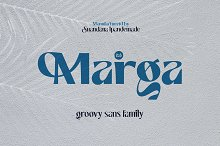 Marga - Groovy Sans Family by  in Fonts