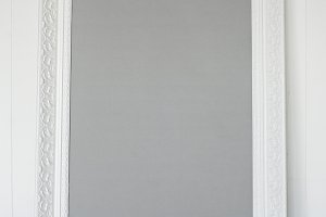 Picture frame white baroque style