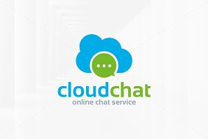 Cloud Chat Logo Template
