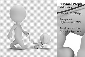 3D Small People - Walk the Dog