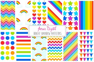 Rainbow Patterns + Digital Paper