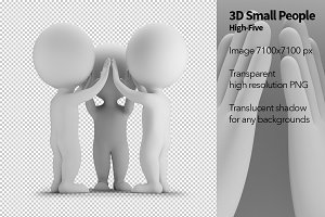 3D Small People - High-Five