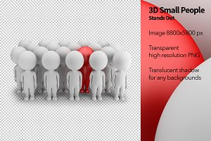 3D Small People - Stands Out