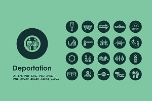 Deportation simple icons