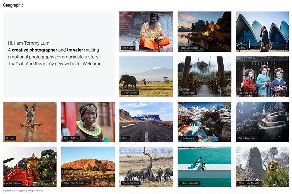 Photography WordPress Theme - GEO