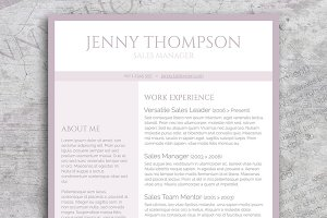 Sweet Lila Resume Template