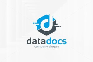 Data Docs - Letter D Logo