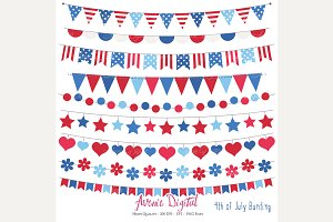 Patriotic Bunting Banner Clipart