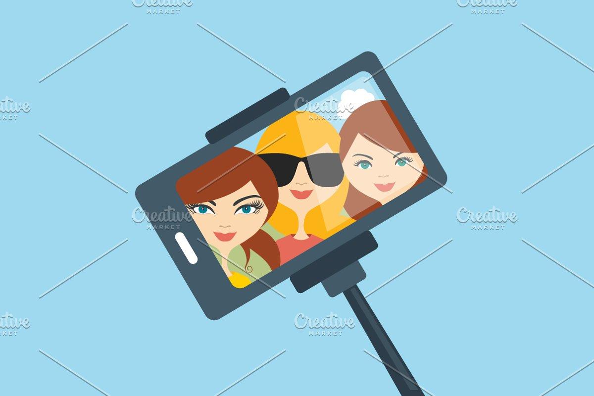 Selfie photo.