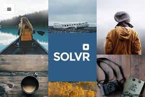 Solvr theme for instagrammers
