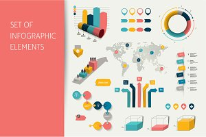 Mega set of infographic elements.