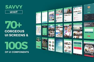 Savvy UI Kit (70 Plus UI Templates)
