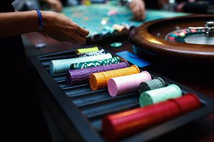 People playing pocker in casino
