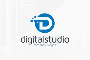 Digital Studio - Letter D Logo