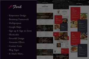 Fork - Restaurants & Hotel Template