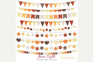 Fall Bunting Banner Clipart + Vector