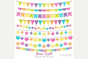 Spring Bunting Banner Clipart