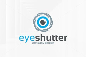 Eye Shutter Logo Template