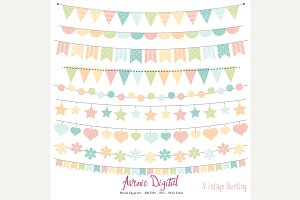 Vintage Bunting Banners