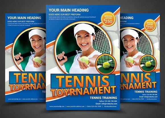 Tennis flyer template flyer templates creative market tennis flyer template flyers fandeluxe Gallery