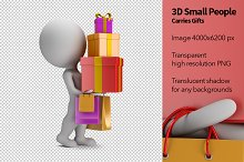 3D Small People - Carries Gifts