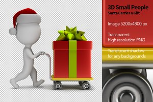 3D Small People - Santa and Gift