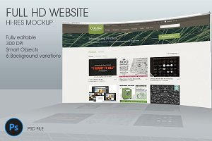 FullHD Website 3D mockup