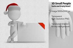 3D Small People - Santa and Board