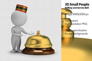 3D Small People - Bellboy