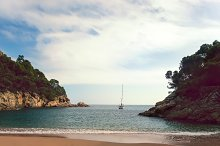 lonley peaceful beach in Spain