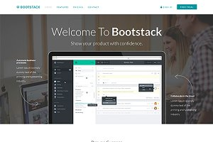 Bootstack - App Landing Page Theme