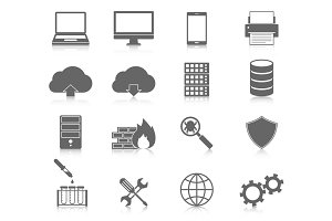 Computer Service and Maintain Icons