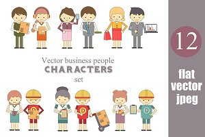 Vector collection of 12 Characters